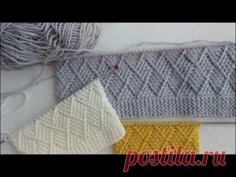 """Шикарный узор """"Ромбы"""" для свитера и кардигана - YouTube"""