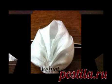 Velvet kanzashi proyecto 2 hoja blanca