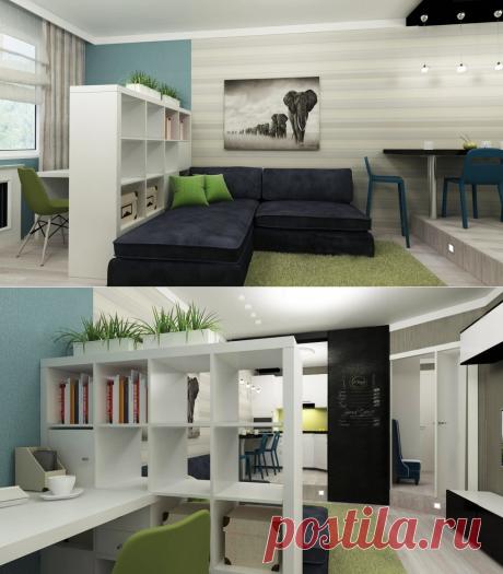 Дизайн интерьера маленькой квартиры-студии - Дизайн интерьеров   Идеи вашего дома   Lodgers