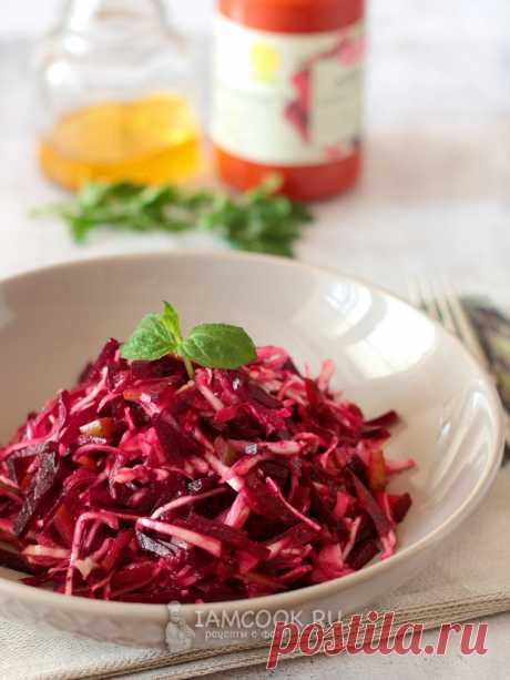 Салат из свеклы и маринованных огурцов с капустой — рецепт с фото пошагово