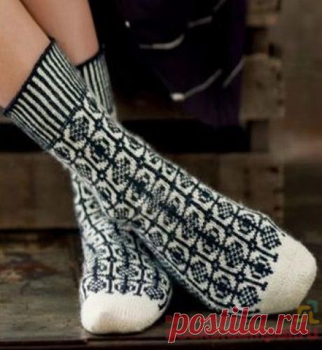Вязаные носки «Sanquhar»   ВЯЗАНЫЕ НОСКИ