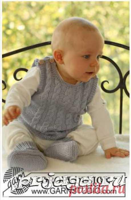 Вязание спицами безрукавки для мальчика от DROPS