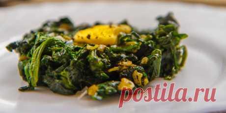 Быстро обжаренный шпинат с чесноком : Овощные блюда : Кулинария : Subscribe.Ru