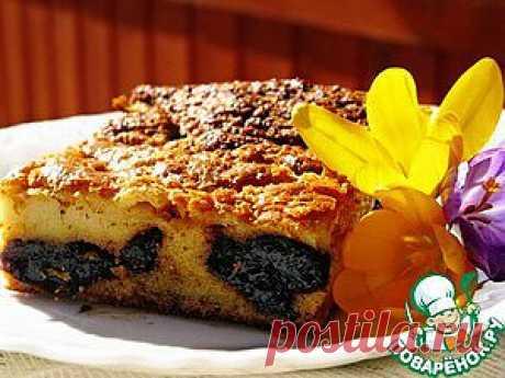 Пирог с черносливом - кулинарный рецепт