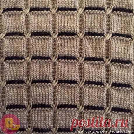 Очень красивый узор для свитера или кардигана или уютного пледа