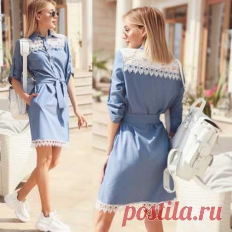 Джинсовое платье рубашка | красивое и модное платье. Скидки. Доставка.