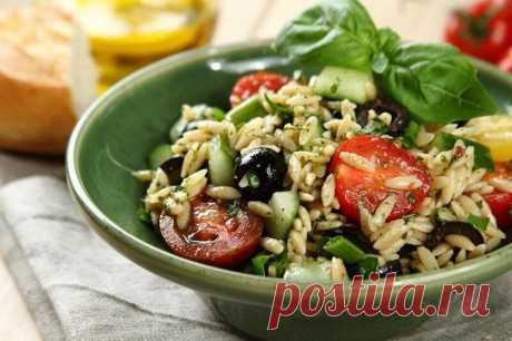 Салат с помидорами черри и макаронами орзо – пошаговый рецепт с фото.