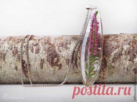МК эпоксидная смола и сухоцветы - создание прозрачных украшений без молдов - Создание бижутерии