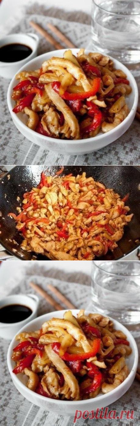 Вкуснятина: курица стир-фрай с кисло-сладком соусе