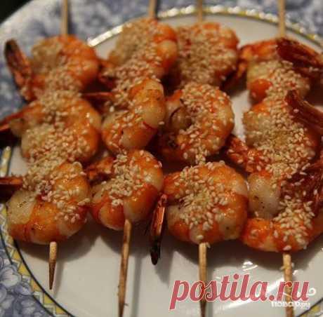 Креветки с медом - пошаговый рецепт с фото на Повар.ру