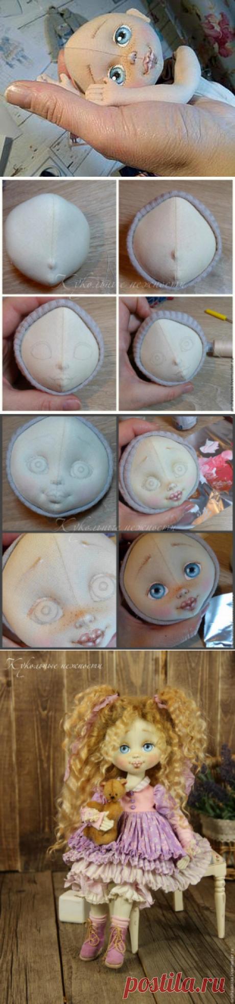 Создание личика текстильной куклы - Ярмарка Мастеров - ручная работа, handmade