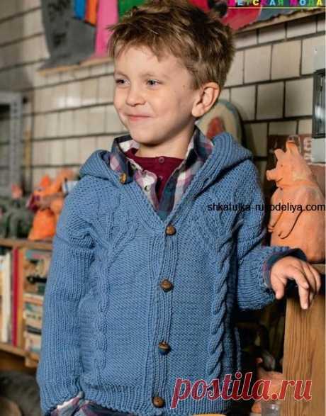 Жакет для мальчика с капюшоном Модель с журнала Verena № 6 2017