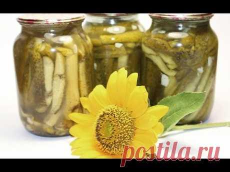 Огурцы в чесночном маринаде (заготовки, консервация, закрутки) - YouTube