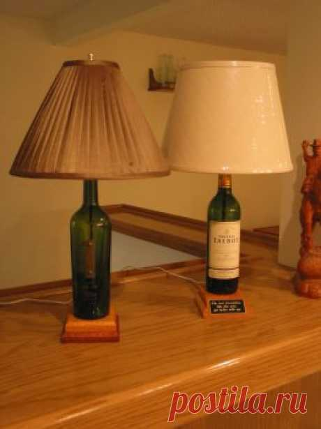 We do a desk lamp of a wine bottle — the hands