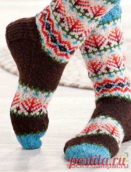 Вязаные носки «Mootie» | ВЯЗАНЫЕ НОСКИ