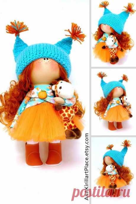 Fabric Nursery Doll Bambole Di Stoffa Textile Rag Doll | Etsy