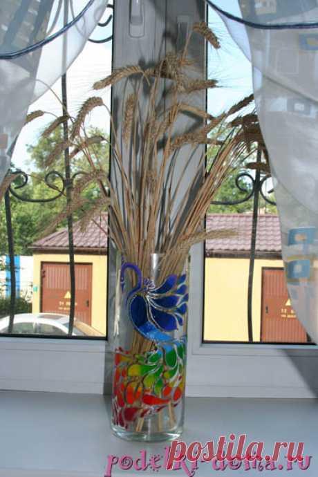Роспись вазы | Коробочка идей и мастер-классов