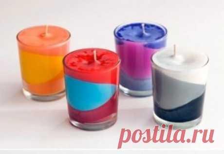 Мелочи для дома: цветные свечи своими руками — Своими руками