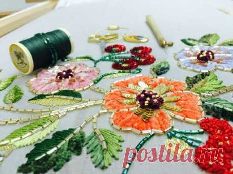 Lyunevilsky embroidery: materials and technology