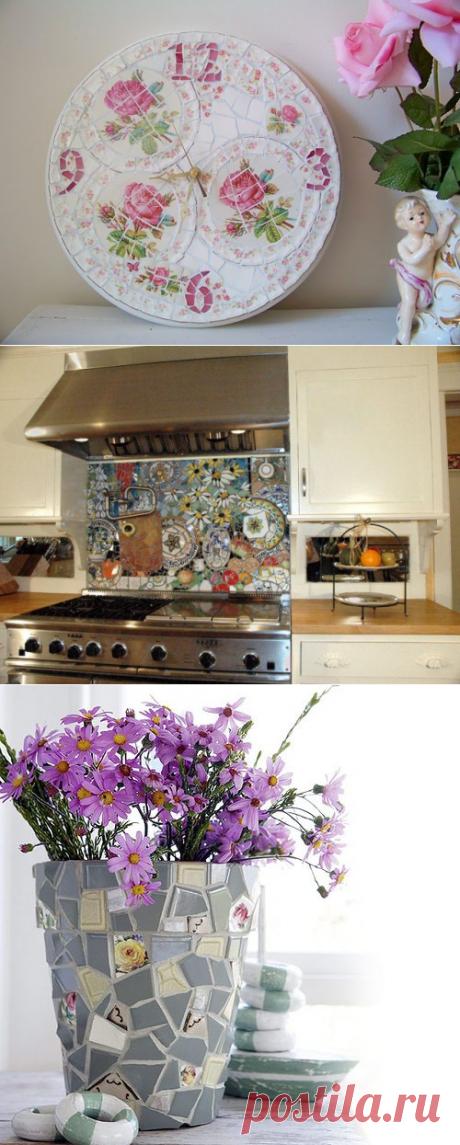 Мозаика из осколков посуды
