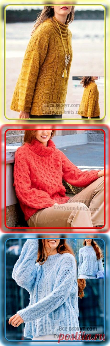 Жёлтый, красный, голубой - выбирай себе любой. 15 новых идей для вязания спицами. | Все вяжут.сом/Everyone knits.com | Яндекс Дзен