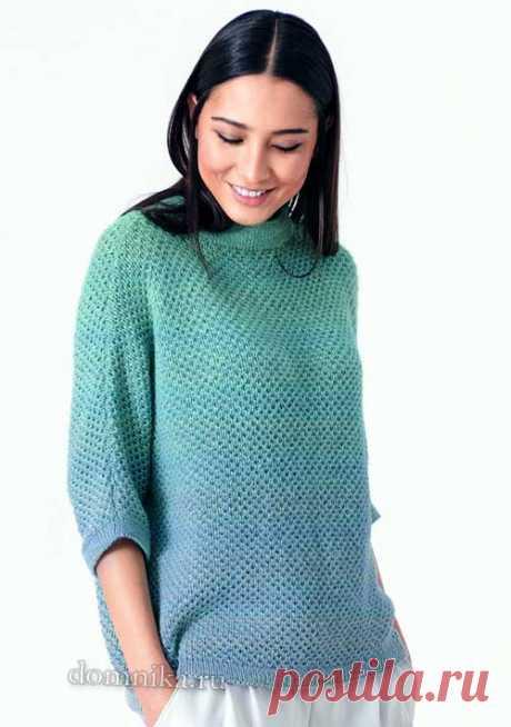 Стильный женский пуловер - оригинальная модель на осень 2019