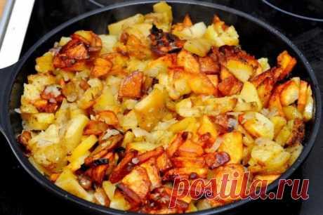 """Как пожарить картошку с корочкой: раскрываем """"бабушкин"""" секрет 🚩 Кулинарные рецепты"""