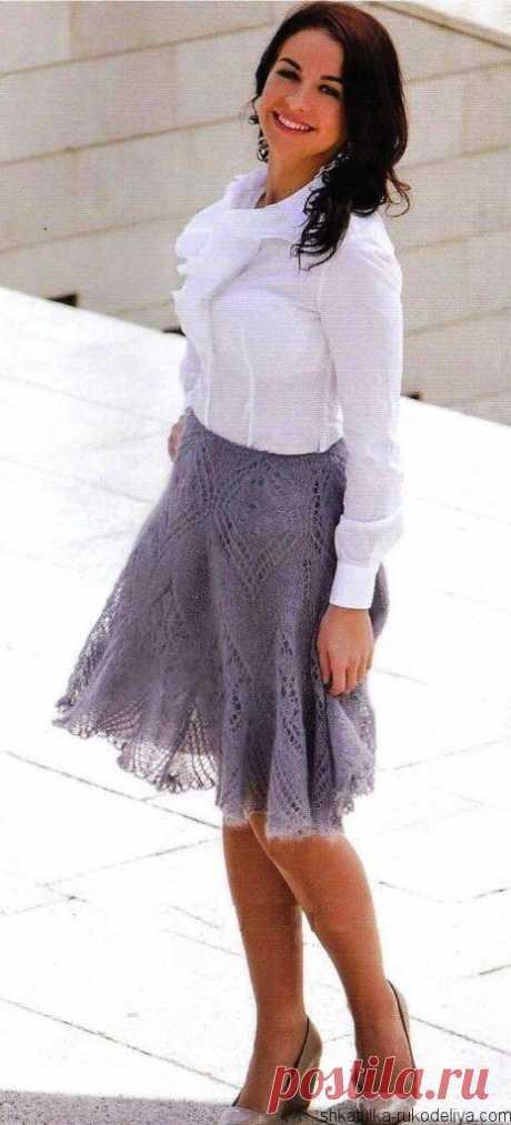Ажурная юбка спицами из мохера. Короткая летняя юбка спицами схемы | Шкатулка рукоделия. Сайт для рукодельниц.
