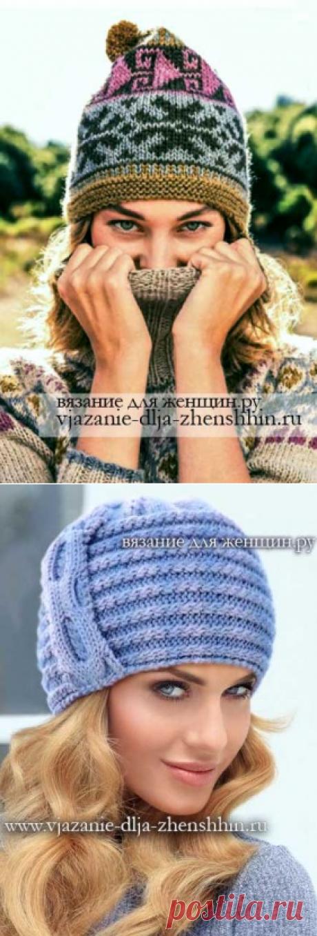 Связать шапку спицами для женщины новые модели 2019   вязание шапки зима весна