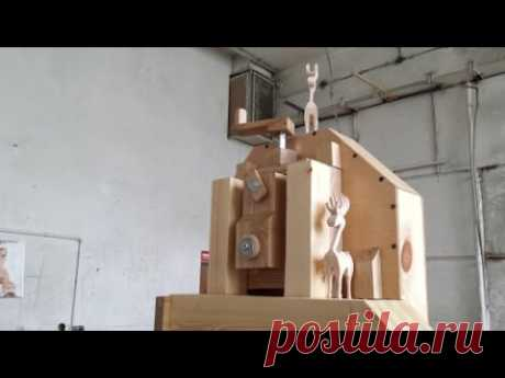 """A speed assembly of the Matthias Wandel 16"""" bandsaw"""