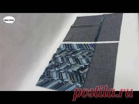 DIY헤링본 무늬 패치웍 토트백 만들기 herringbone patchwork tote bag