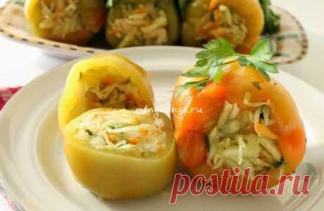 Квашенный перец фаршированный капустой с овощами - Меню Дня - menyudnya.ru