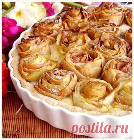 Очень красивый пирог с яблоками   ВКУСНО ПОЕДИМ!