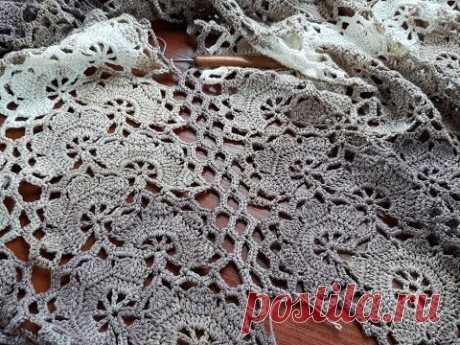 Платье (сарафан) крючком. Ленточное кружево. Часть 7. Боковые соединения.