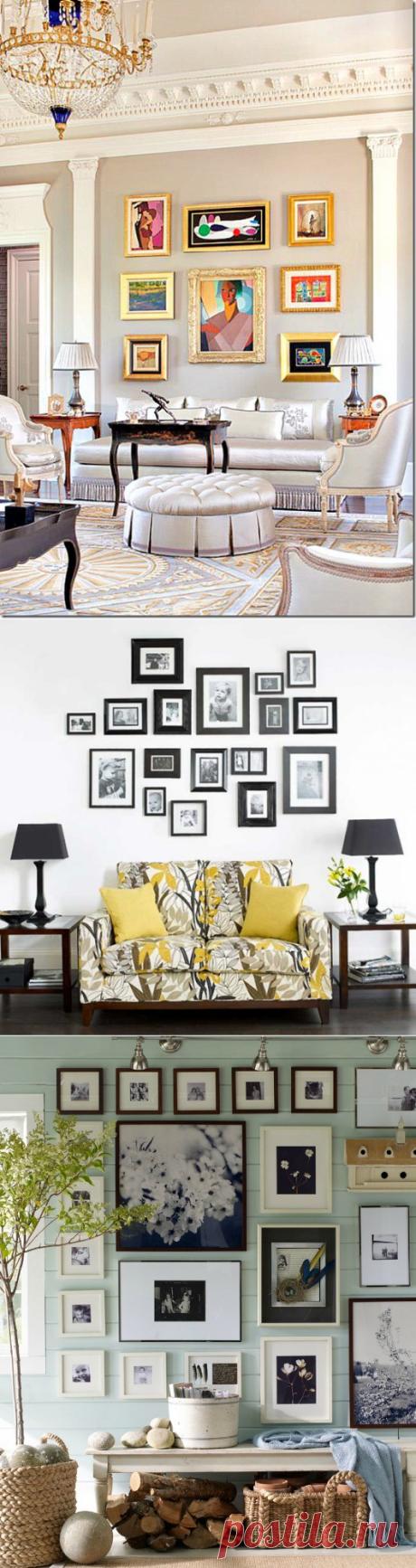 Как украсить дома композицией из фоторамок | Наши дома