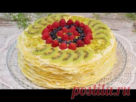 🍰 ТОРТ БЕЗ ДУХОВКИ! Необычный блинный торт с пикантной добавкой! Когда хочется чего-то особенного!