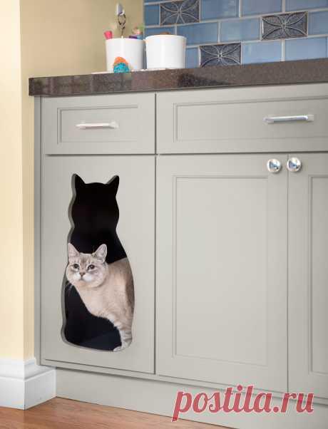 Гениальная идея для тех, у кого есть кошки. Как красиво спрятать кошачий лоток - Мой город