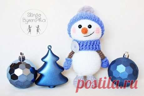 [Снеговик] [Автор: SlingoByseni4ka]  Вам понадобится:  - пряжа белого цвета  Показать полностью…