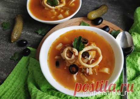 (4) Рыбная солянка с кальмарами - пошаговый рецепт с фото. Автор рецепта Маргарита Сорокина . - Cookpad