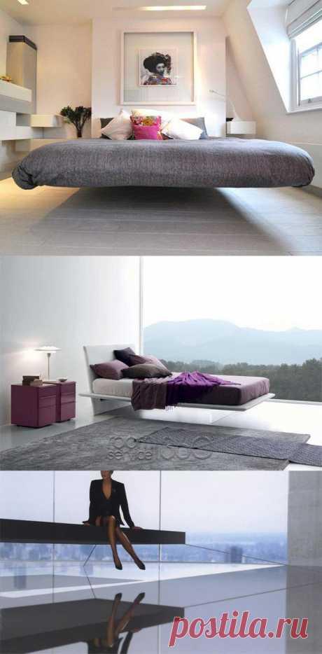 Создавать своими руками парящую кровать мы научились (в предыдущем посте), теперь стоит выбрать дизайн. Интересная подборка левитирующих спальных мест.