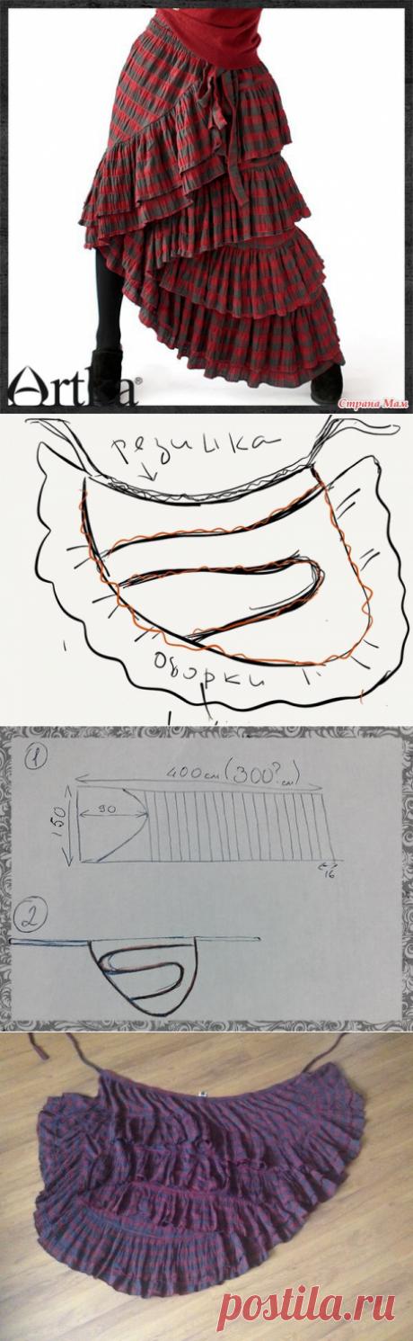 Как сшить эффектную бохо-юбку на запахе по прототипу юбки Artka (мастер-класс) / Юбки и их переделки / ВТОРАЯ УЛИЦА