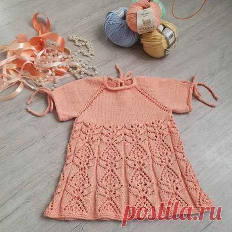 Lena Lubimaja Нарядное,нежное платьице для малышки)Можно с поясом,можно без.Пряжа Gazzal baby cotton.