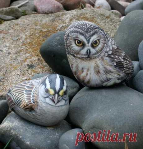 """Невероятно, но Факт! в Твиттере: """"Ручная роспись камней. Как Вам? в Яндекс.Коллекциях"""