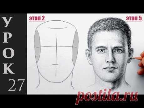 Как нарисовать портрет, лицо и голову человека. Техника Эндрю Лумиса.