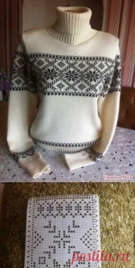 Жаккард, красивый узор для вязания спицами
