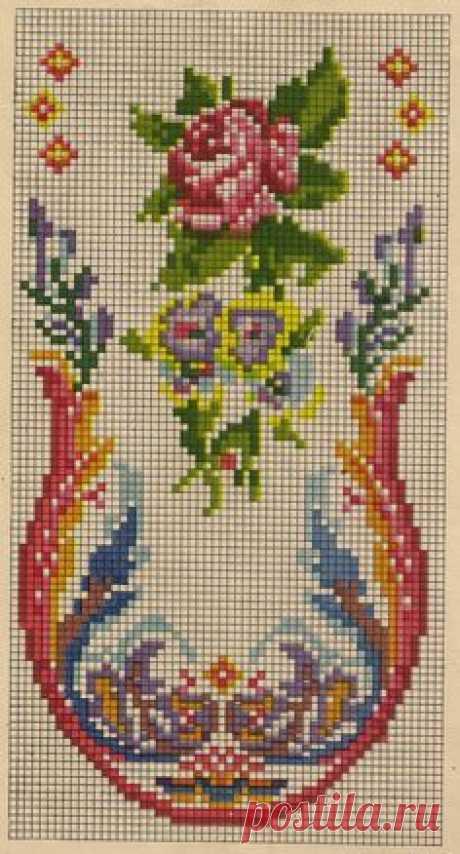 Винтажная вышивка крестиком