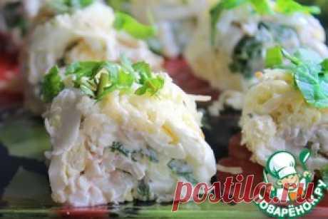 """Закусочный салат из кальмаров """"Моя прелесть"""" - кулинарный рецепт"""