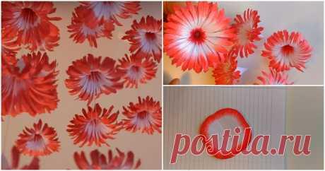 Необычный декор для украшения: подвесные бумажные цветы ...