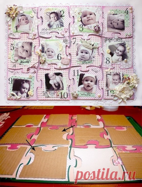 "Beautiful idea - a collage puzzle of ""12 months\"""