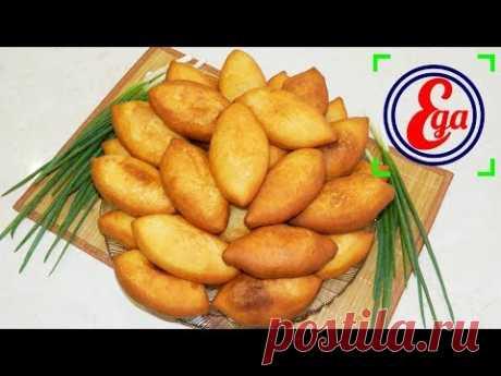 Жареные пирожки с зеленым луком и творогом